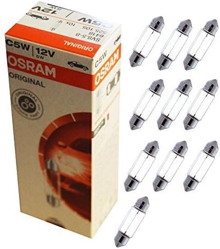 OSRAM 6418 Lámpara Tubular, 12V, 5W