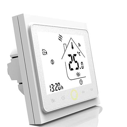Termostato WiFi inteligente controlador de temperatura para calefacción por suelo radiante eléctrico funciona con Amazon Alexa, Google Home IFTTT 16A