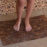 Hip-o Modern Living Foldable Teak Indoor/Outdoor Bath, Shower and Floor Mat
