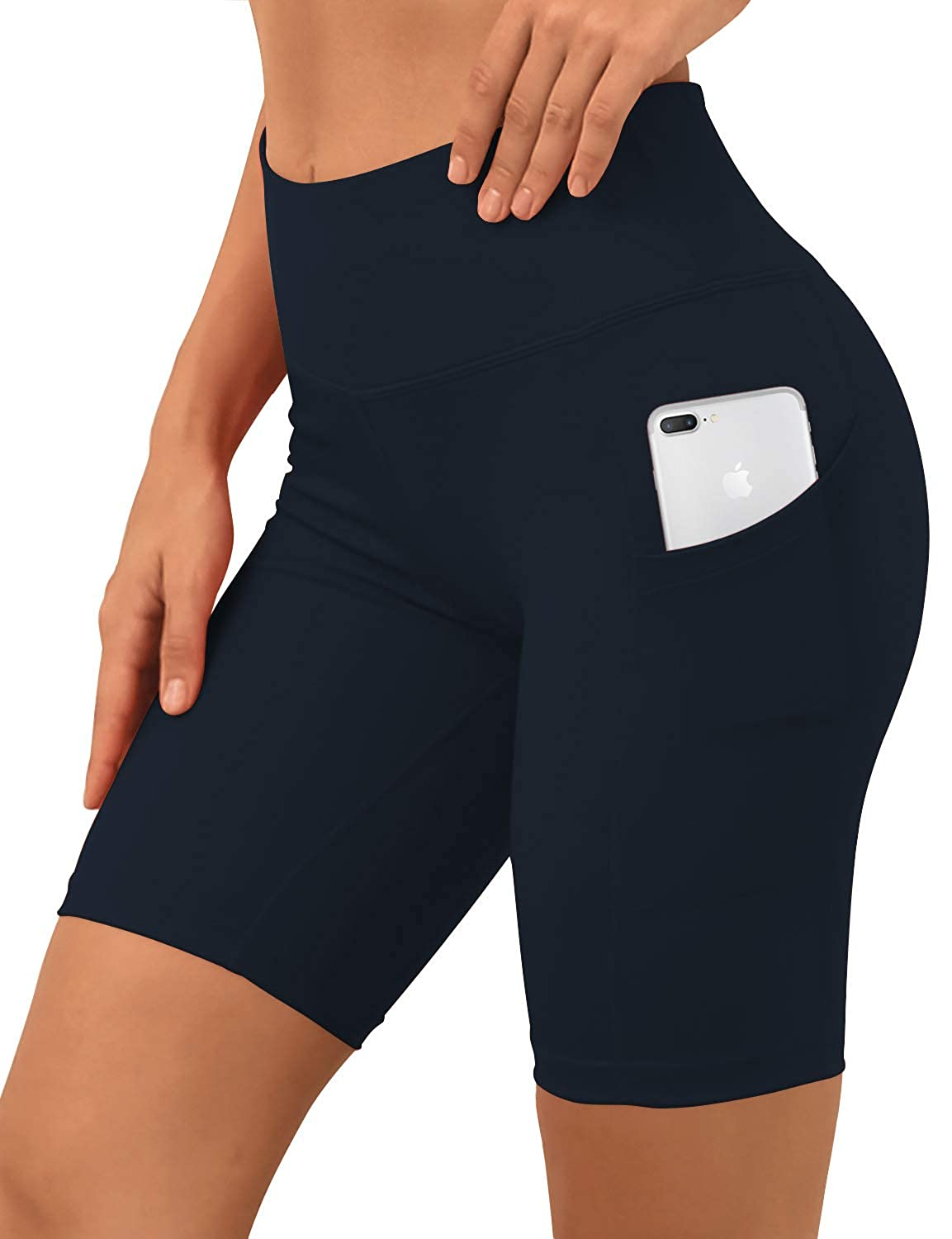 Bwsb030 Darknavy& xFF08;8 inseam) BUBBLELIME 2.5   4  Inseam Out Pocket Yoga Shorts Running Shorts Active