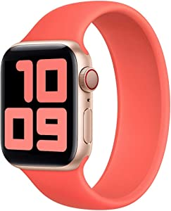 Strawberry Apple Pie Stretchy Solo Loop Band Strap Compatible with Apple Watch Band 38mm 40mm 42mm 44mm No Clasps or Buckles Sport Elastics Silicone Women Men Wristband Iwatch Series 6/SE/5/4/3/2/1