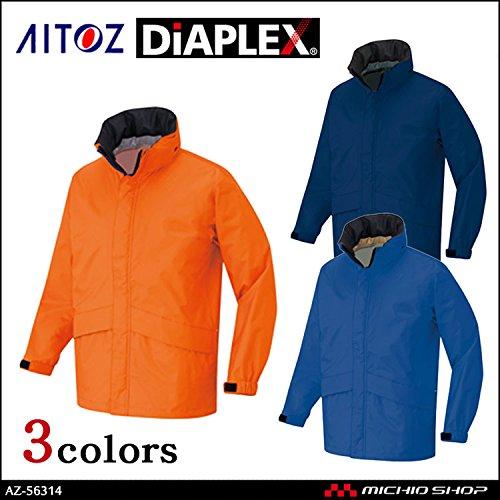 アイトス 雨合羽 レインコート 作業服 アイト TULTEX DIAPLEX 全天候型ベーシックジャケット AZ-56314 大きいサイズ B07BJY2SN1 5L 016スチールブルー 016スチールブルー 5L
