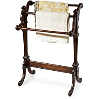 Accent Furniture - Bedford Blanket Rack - Quilt Rack - Plantation Cherry Finish