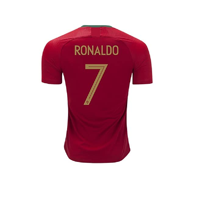 Amazon.com  Football Soccer T-Shirt- Red Color with Ronaldo Written ... 87a7f3abf