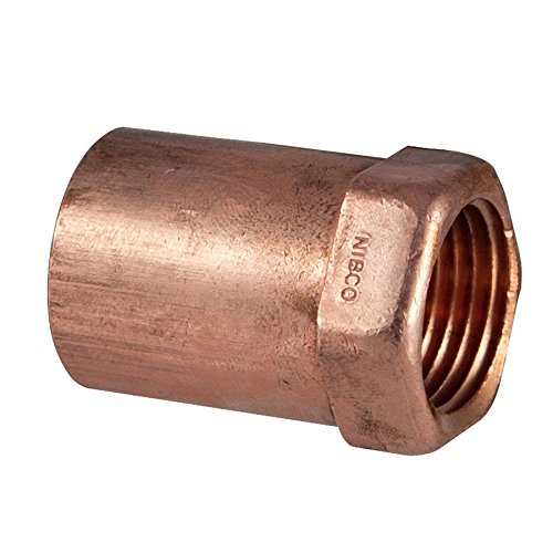 NIBCO 1-in x 3/4-in Copper Threaded Adapter Fitting