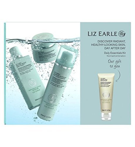 liz-earle-daily-essentials-kit-for-normal-combination-skin-with-bonus-gentle-face-exfoliator-50ml-by