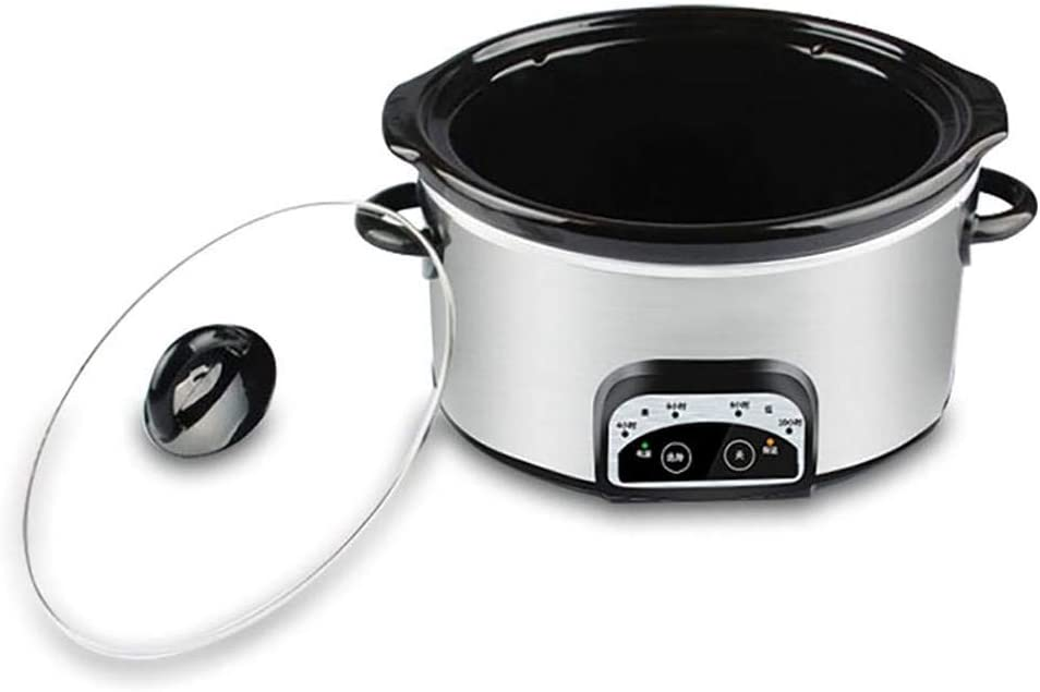 Crockpots Slow Cooker, 3 Temperature Settings Non-Stick Rice Cooker 4 Litre Digital Slow Cooker with Keep Warm Function Ceramic