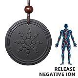 Anti Radiation Shield EMF Neutralizer Negative Ions Energy Pendant Necklace Orgone Pendant (round)