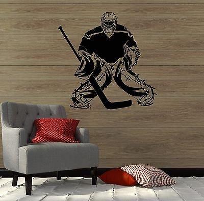 Wall Decal Hockey Sport Player Sports Fan Goalkeeper Vinyl Stickers (vs2863)
