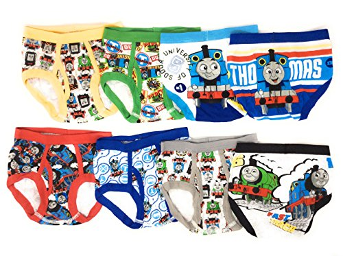 Handcraft Thomas The Train Toddler Boys Briefs Value 8-Pack Underwear Percy ()