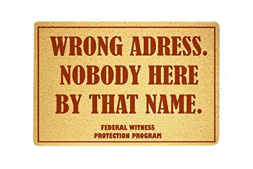Federal Witness Protection Program Funny Door Mat Sweet