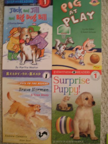 Easy Readers Level 1 Set (Pig at Play, Surprise Puppy, Brave Norman, Jack and Jill and Big Dog Bill)