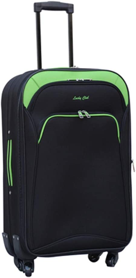 Color : Green, Size : 351850 Travel Bags Trolley Case 24 Inch Scalable Password Baggage Luggage Suitcases Carry On Hand Luggage Durable Hold Tingting