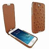 Piel Frama 685 Tan Ostrich iMagnum Leather Case for Apple iPhone 6 Plus / 6S Plus / 7 Plus / 8 Plus
