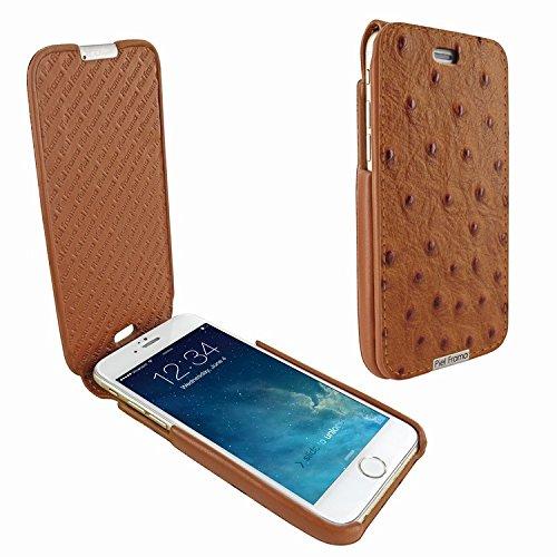 Piel Frama 685 Tan Ostrich iMagnum Leather Case for Apple iPhone 6 Plus / 6S Plus / 7 Plus / 8 Plus by Piel Frama