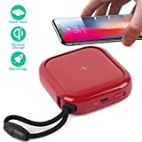 Portable Wireless Charger Power Bank, MIPOW 10000mAh Powerbank Qi Fast Wireless Charging Pad, External Battery Pack for iPhone X/8/8 Plus/Samsung Galaxy S9/S9 Plus/S8/Note 8