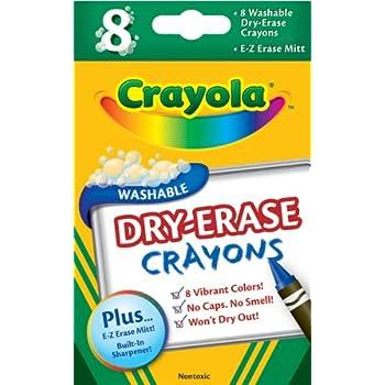 Amazon.com: Crayola Washable Dry-Erase Crayons, 8 Classic
