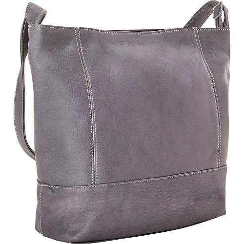 le-donne-leather-ld-9134-gry-shoulder-handbag-gray