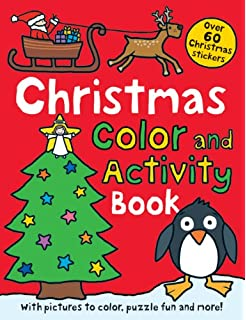 christmas preschool color and activity book over 60 christmas stickers - Preschool Books About Colors