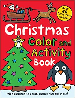christmas preschool color and activity book over 60 christmas stickers - Preschool Color Books