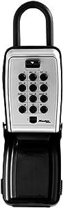 Master Lock 5422D Set Your Own Combination Portable Push Button Lock Box, 5 Key Capacity, Black