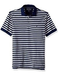 Men's Classic Short Sleeve Stripe Polo Shirt