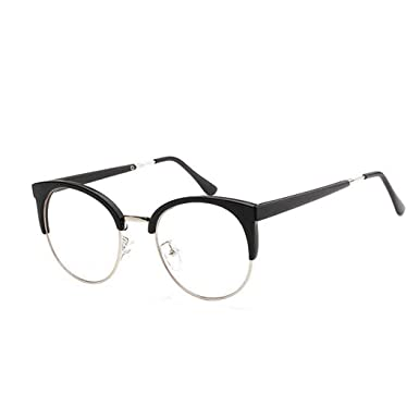d14cf02e6d748 Round Shape Half Frame Glasses Optical Glasses Modifying the Face Optical Glasses  Vintage Retro Classic Half