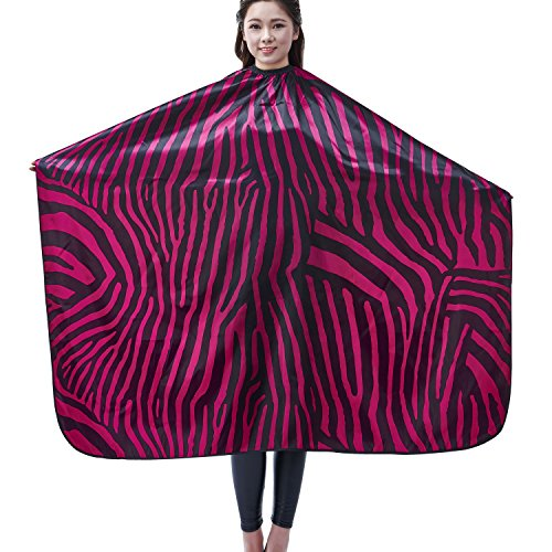 Salon Professional Hair Styling Cape, Colorfulife® Adult Hair Cutting Coloring Styling Waterproof Cape Satin Hairdresser Wai Cloth Barber Gown Home Camps & Hairdressing Wrap Zebra Pattern Capes K007 (Purple) by Colorfulife