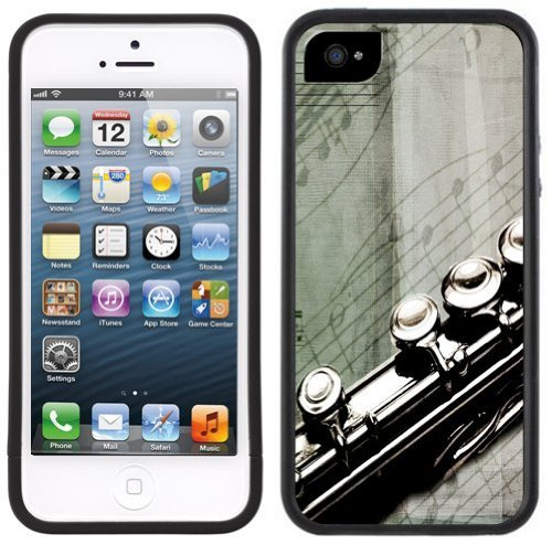 Flute Music Handmade iPhone 5 Black Bumper Plastic Case