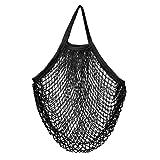 Cotton Net Shopping Tote Bag FishingNetStyleHollowedoutMarketStringBagHandheldMeshBag Shopping Bag