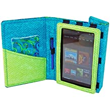 Fashion Tec Greek Isle Kindle Fire Protective Case Cover with Stand, Includes Stylus and Screen Cleaner Cloth - Fits Kindle Fire (Does Not Fit Kindle Fire HD)