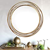SPAZIO 7109-1 Swirl Wall Mirror, One Size, Antique Gold