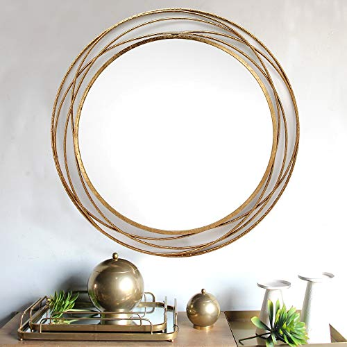 SPAZIO 7109-1 Swirl Wall Mirror, One Size, Antique Gold by SPAZIO (Image #3)