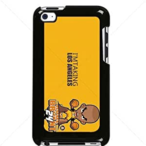NBA Los Angeles Lakers Kobe Bryant Apple iPod Touch iTouch 4th Generation Hard Plastic Black or White cases (Black)