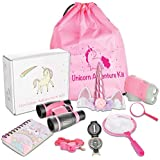 Littolo - Kids Adventure Kit- Unicorn Gifts for Girls- Unicorn Headband, Unicorn Backpack, Binoculars, Flashlight, Compass & More. Free Activity Book. Kids Outdoor Toys, STEM Toy, Pretend Play.