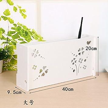 DSZQ Wifi router estante/TV Set-Top cajas magia estante decoración caja de pared intercalar colgando estante creativo caja de almacenamiento: Amazon.es: ...