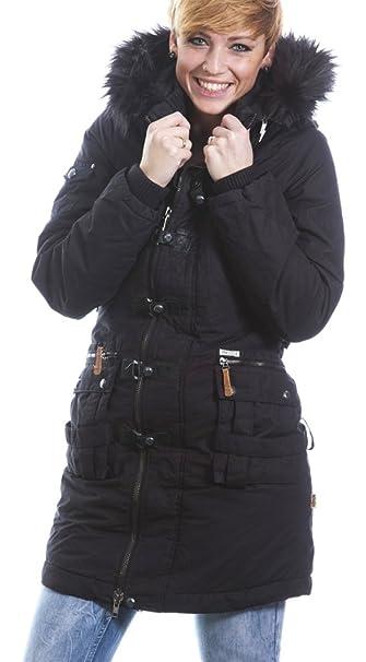 Wintermantel Camouflage Damen Khujo XS S in 4694 Weinberg