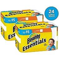 Bounty Essentials Full Sheet Paper Towels, 24 Large Rolls