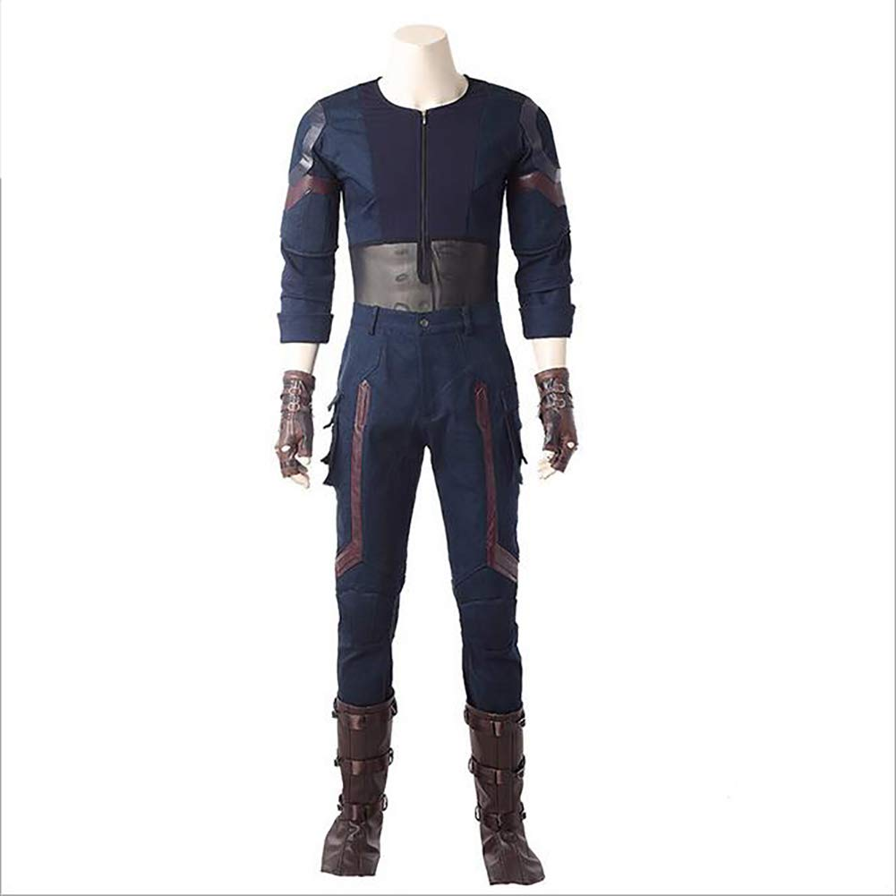 liaoting938 Marvel'S The Avengers Capitán América Comics Steven Steve Rogers Cosplay Comic Exhibition Performance Custome Party Fancy Dress