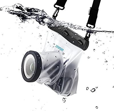 zonman DSLR Camera Univeral Waterproof Underwater Housing Case Pouch Bag for Canon Nikon Sony Pentax Brand Digital SLR Cameras