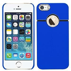 Samrick cromo dura carcasa de carcasa de vuelta híbrido Armour para Apple iPhone 5S - Blue (Azul)