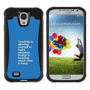 Suave TPU GEL Carcasa Funda Silicona Blando Estuche Caso de protección (para) Samsung Galaxy S4 IV I9500 / CECELL Phone case / / blue creativity mistakes design point /