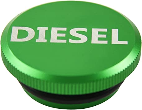 Green Diesel Billet Aluminum Magnetic Fuel Cap Magnetic For Dodge Ram 2013-2017