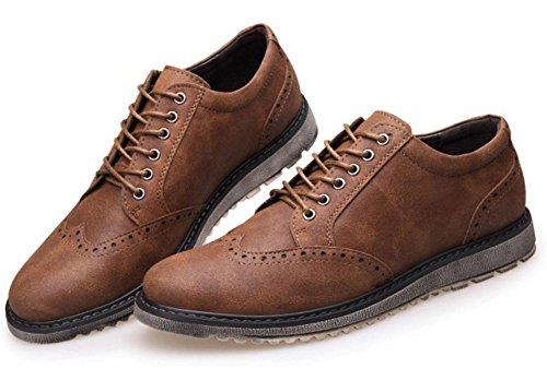 Oxford vestido zapatos para men- formalmente cuero Zapatos - casual clásico para hombre shoes- la de los hombres rizo tallada zapatos Khaki