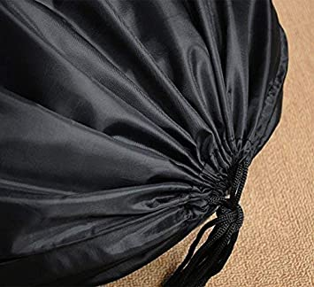 Nero Meowoo grande Sporca Cesto Biancheria Grande borsa di stoccaggio coulisse grande organizer Borsa cotone grande organizer Borsa impermeabile,Ideale per viaggi,campeggio,Student Dorm