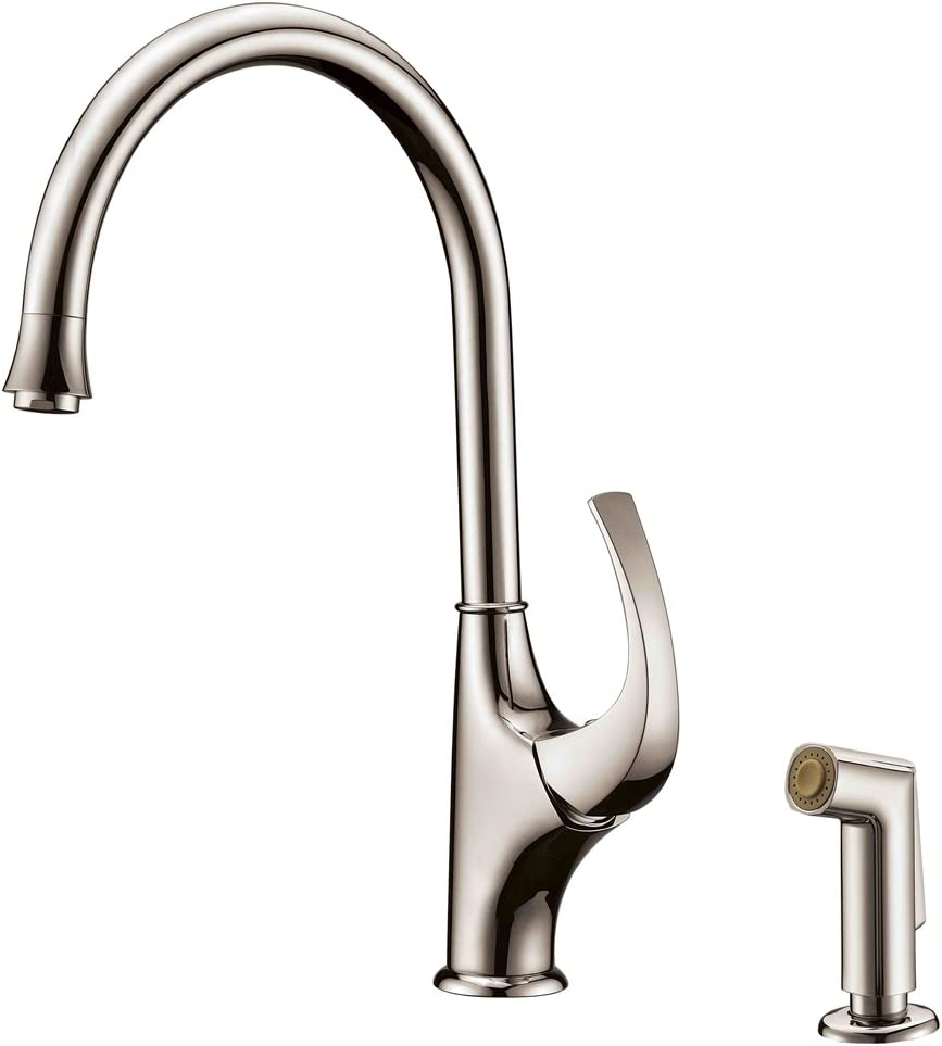 Dawn AB04 3276BN kitchen faucet with side spray, Brushed Nickel