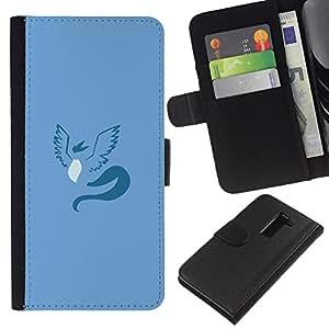 // PHONE CASE GIFT // Moda Estuche Funda de Cuero Billetera Tarjeta de crédito dinero bolsa Cubierta de proteccion Caso LG G2 D800 / Articuno P0Kemon Minimal /