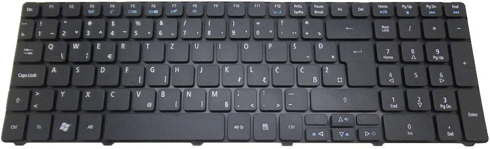 Laptop Keyboard for Acer Aspire 5250 5251 5252 5253 5253G 5310 5315 5320 5330 5333 5340 5410 5410 T5536 5538 5542G 5552 5553 Slovenian SL Black