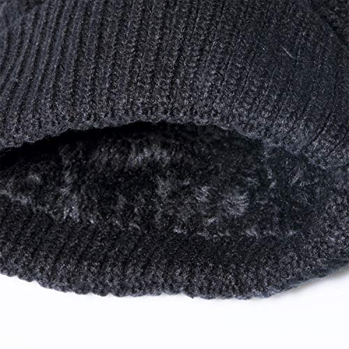YSense Mens Winter Hats Warm Cable Knit Beanie Fleece Lined Thick Skull Cap 90109ba0c89a