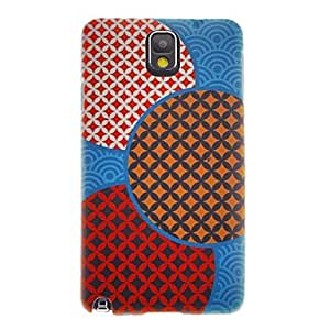 GONGXI Blue Ground Parquets Smooth Painting Pattern Protective Hard Back Cover Case for Samsung Galaxy Note3 N9006